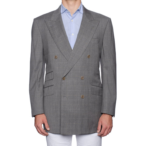 CASTANGIA 1850 Gray Wool Double Breasted Jacket EU 54 NEW US 44