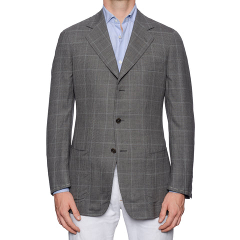 CASTANGIA 1850 Gray Plaid Wool Hopsack Sport Coat Jacket NEW