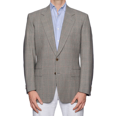 CASTANGIA 1850 Gray Prince of Wales Wool Sport Coat Jacket EU 50 NEW US 40