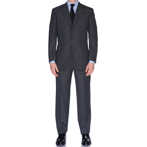CASTANGIA 1850 Gray Striped Wool Suit EU 50 NEW US 40