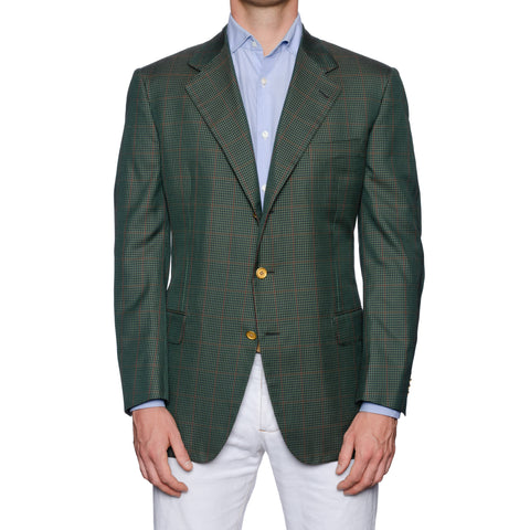 CASTANGIA 1850 Green Gun Club Blazer Sport Coat Jacket EU 52 NEW US 42