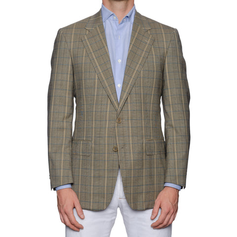 CASTANGIA 1850 Beige Plaid Wool Sport Coat Jacket EU 48 NEW US 38