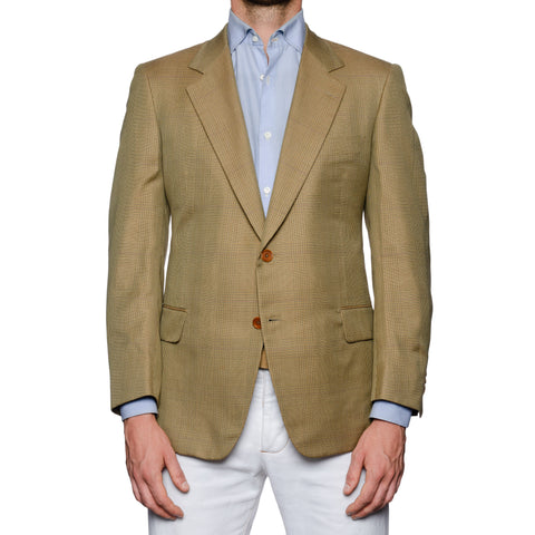 CASTANGIA 1850 Prince of Wales Cotton Sport Coat Jacket EU 50 NEW US 40