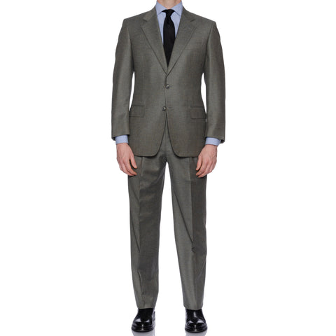 CASTANGIA 1850 Olive Wool-Cashmere Flannel Suit NEW