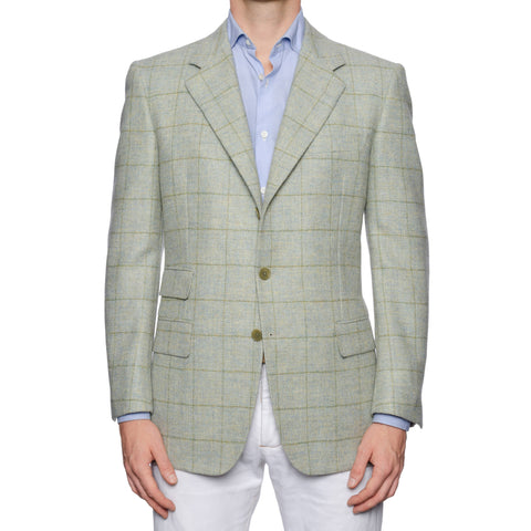 CASTANGIA 1850 Mint Windowpane Wool Tweed Sport Coat Jacket NEW