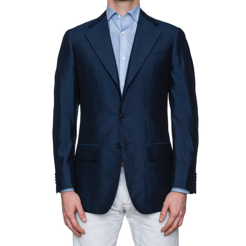 CASTANGIA 1850 Navy Blue Silk Sport Coat Blazer Jacket NEW