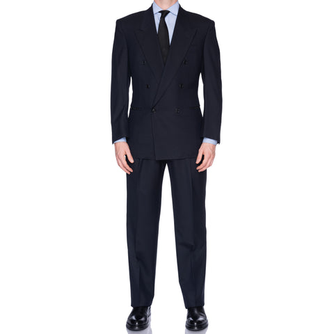 CASTANGIA 1850 Navy Blue Wool Double Breasted Suit EU 50 NEW US 40