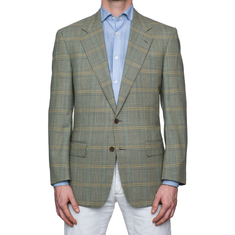 CASTANGIA 1850 Olive Prince of Wales Wool Sport Coat Jacket EU 50 NEW US 40