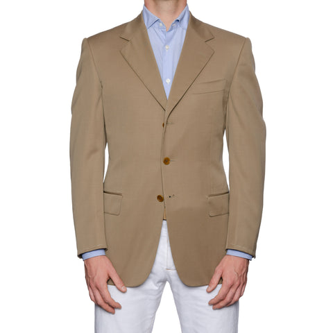 CASTANGIA 1850 Gabardine Wool Sport Coat Jacket EU 50 NEW US 40