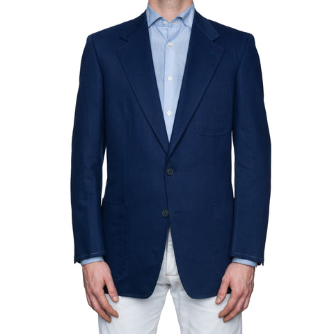 CASTANGIA 1850 Royal Blue Twill Cotton Sport Coat Jacket EU 50 NEW US 40