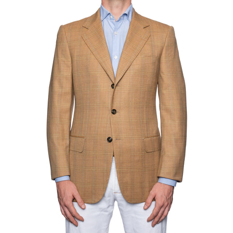 CASTANGIA 1850 Beige Plaid Wool Sport Coat Jacket NEW