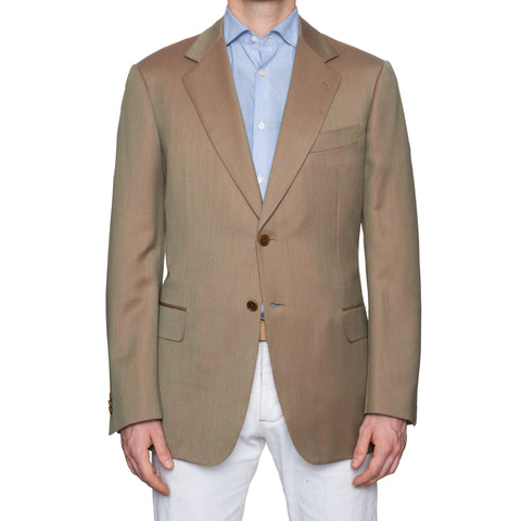 CASTANGIA 1850 Tan Solaro Wool Jacket EU 52 NEW US 42