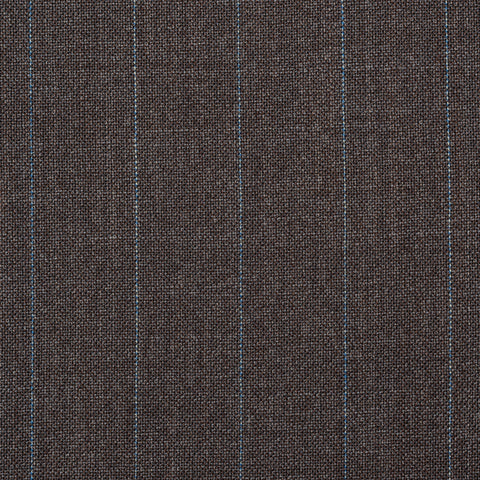 CASTANGIA 1850 Gray Striped Wool-Mohair Business Suit NEW