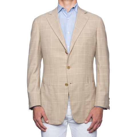 CASTANGIA Beige Wool Super 120's Unlined Jacket EU 54 NEW US 44