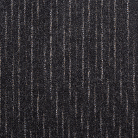 CASTANGIA Dark Gray Pinstriped Wool-Cashmere Suit EU 52 NEW US 42
