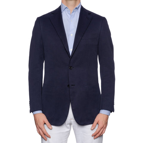 CASTANGIA For Gio Moretti Blue Cotton-Cashmere Unlined Jacket EU 48 NEW US 38