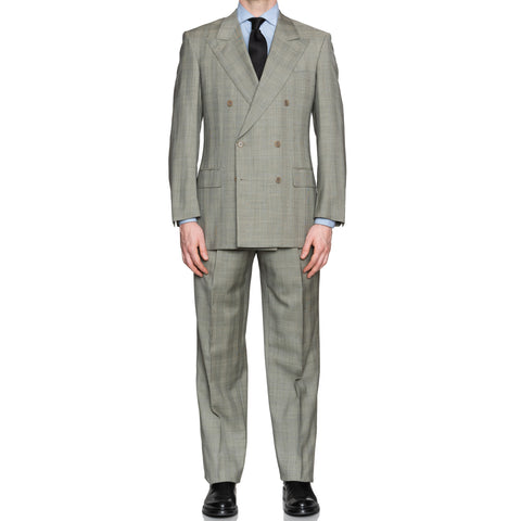 CASTANGIA Gray Prince of Wales Wool DB Suit EU 50 NEW US 40