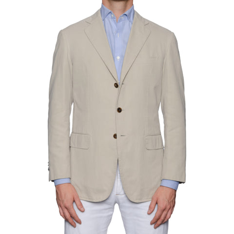 CASTANGIA LEISURE Beige Cotton Sport Coat Jacket EU 50 NEW US 40