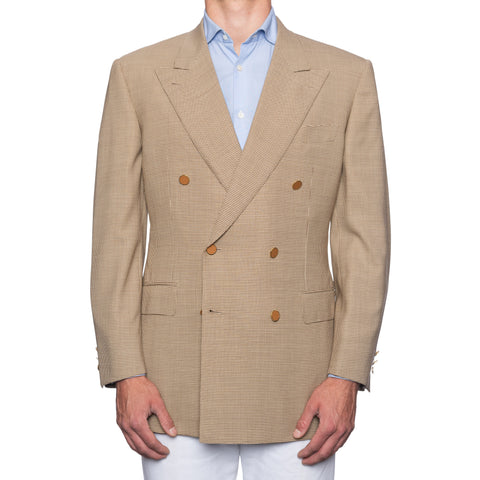CASTANGIA for PARK LANE COLLECTION Beige Wool-Silk DB Jacket EU 54 NEW US 44