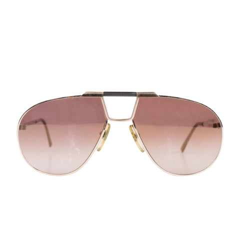 CHRISTIAN DIOR MONSIEUR 2151 Gold Frame Vintage Sunglasses w. Extra Lenses, Case