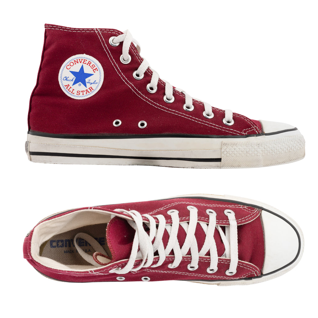 7ed7d1b86f131 CONVERSE Chuck Taylor Made in USA Canvas High Top Sneaker Shoes US 9 ...