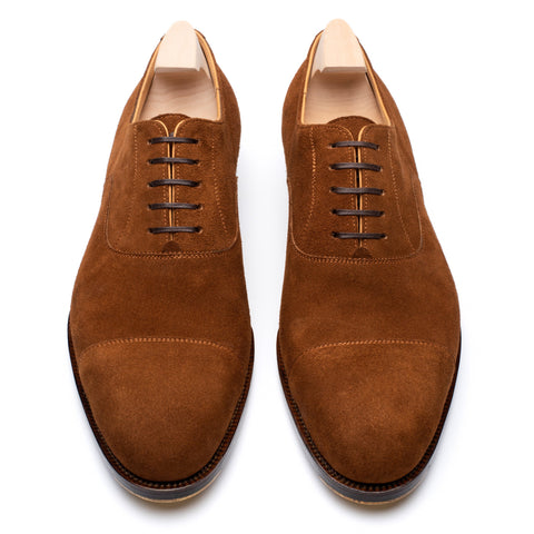 "PASSUS SHOES Handmade ""Winston"" Wet Sand Suede Cap Toe Oxford Shoes"
