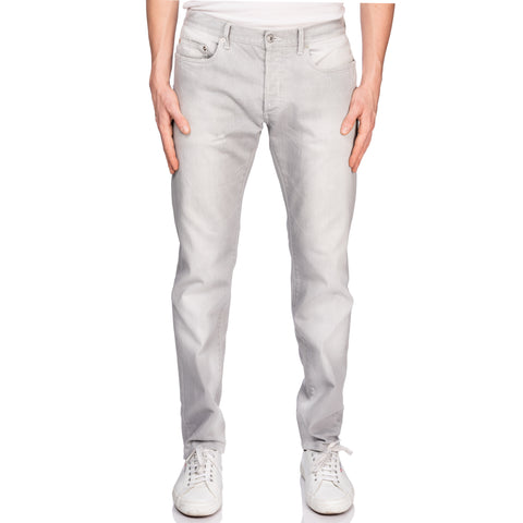 DIOR Gray Denim Straight Fit Stretch Jeans Pants US 32