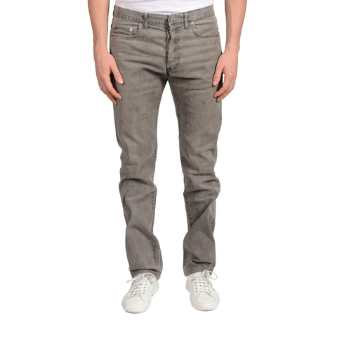DIOR Gray Denim Straight Fit Stretch Jeans Pants US 33 0H