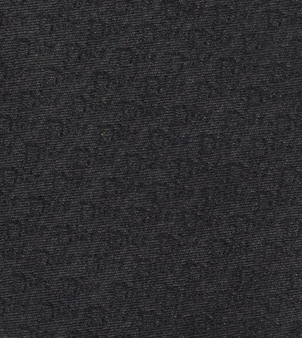 DIOR HOMME Black Silk Satin Logo Tie NEW