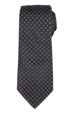 DIOR HOMME Dark Gray Silk Satin Tie NEW