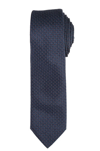 DIOR HOMME Blue Silk Satin Skinny Tie NEW