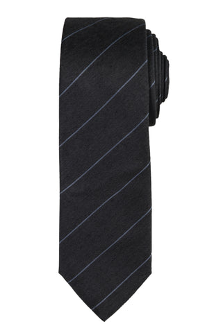 DIOR HOMME Gray Striped Silk Skinny Regimental Tie NEW