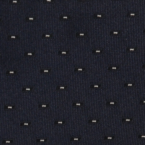 DIOR HOMME Navy Blue Silk Satin Skinny Tie NEW