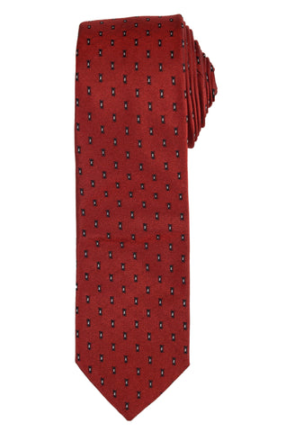 DIOR HOMME Red Silk Satin Skinny Tie NEW