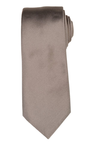 DIOR HOMME Solid Beige Silk Satin Tie NEW