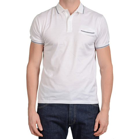 DIOR HOMME White Bee Logo Cotton Polo Shirt Size M 8E