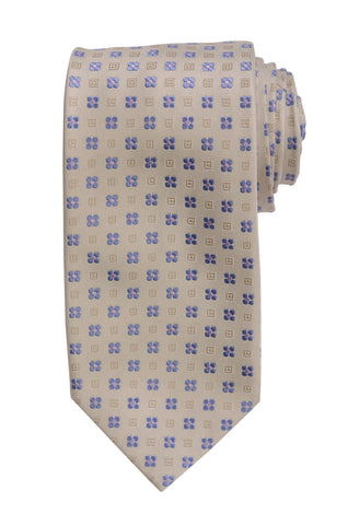 DOLCEPUNTA Italy Hand Made Gray Floral Silk Tie Seven Fold NEW