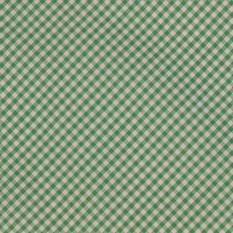 DOLCEPUNTA Italy Hand Made Green White Plaid Cotton Classic Tie NEW
