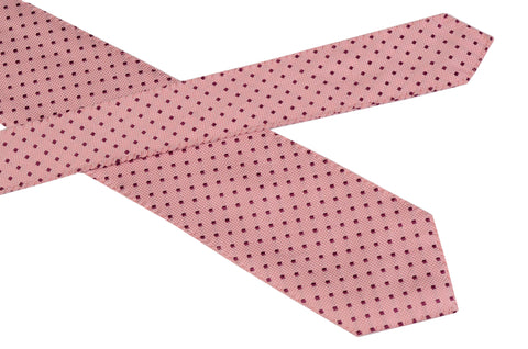 DOLCEPUNTA Italy Hand-Stitched Pink Square Pattern Silk Tie NEW - SARTORIALE - 2