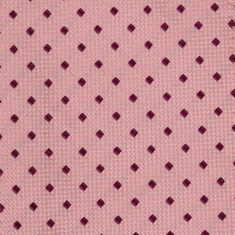 DOLCEPUNTA Italy Hand-Stitched Pink Square Pattern Silk Tie NEW - SARTORIALE - 3