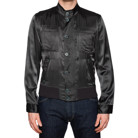 DOLCE & GABBANA Made In Italy Green Bomber Blouson Jacket EU 48 NEW US 38