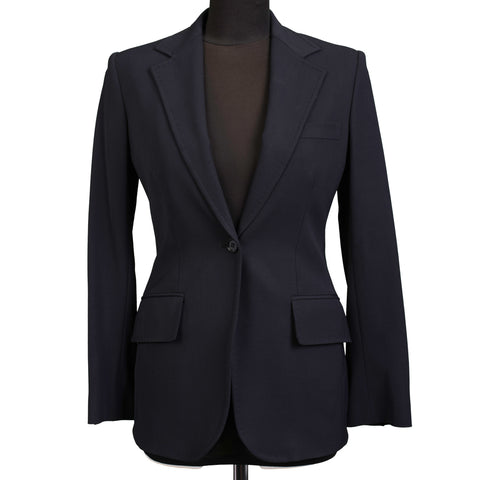 DOLCE & GABBANA Dark Blue Wool Blend Women Blazer Jacket IT 40 NEW US 4