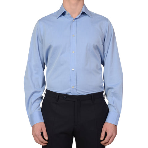 DOLCE & GABBANA Blue Twill Cotton Dress Shirt US 16 EU 41