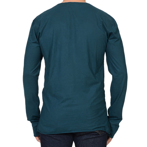 DOLCE & GABBANA Green Cotton Long Sleeve T-Shirt EU 52 US L