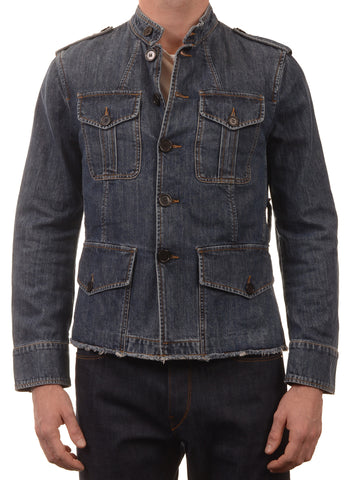 DOLCE & GABBANA Made In Italy Blue Denim Cotton Trucker Jacket EU 46 NEW US 36 - SARTORIALE - 1
