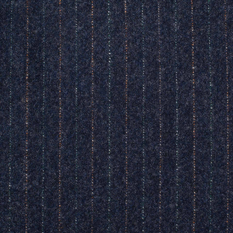 D'AVENZA For SIR WILSON Handmade Blue Wool Flannel DB Suit EU 54 NEW US 44
