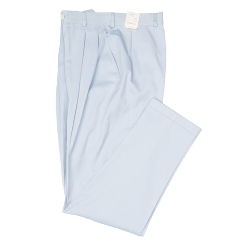 D'AVENZA Blue Women's Cotton-Cashmere Double Pleated Pants IT 44 NEW US 28