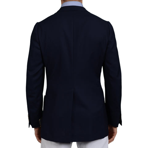 "D'AVENZA ""Easy Chic"" Handmade Navy Blue Wool Blazer Jacket EU 50 NEW US 40"