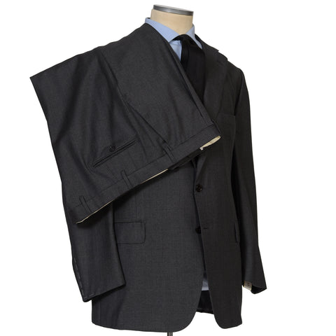 D'AVENZA For Accademya Handmade Gray Wool Suit with Silk Lining NEW