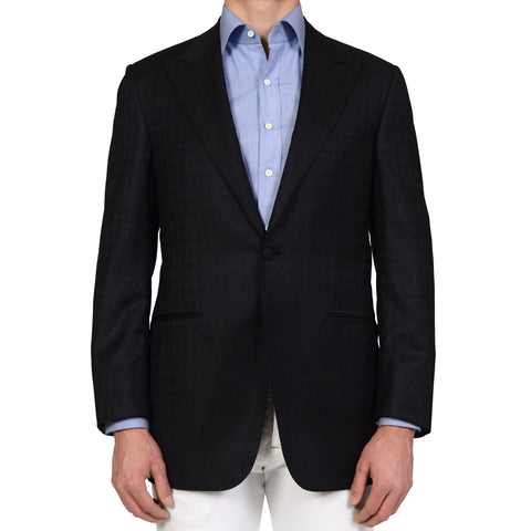 D'AVENZA for Damiani Black Peak Lapel Blazer Dinner Formal Jacket NEW